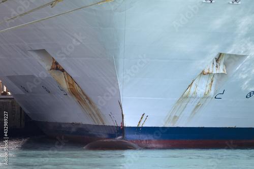 Canvas Print cruise ship prow bow detail