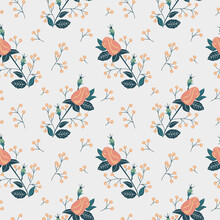 Seamless Texture With Floral Background, Wallpaper