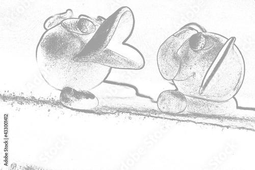 Modelina - figurki- kaczuszka i słonik