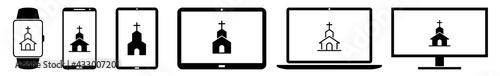 Valokuva Display Church, Churches, Catholic, Christian Icon Devices Set | Web Screen Cath