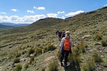 Lesotho - Drachenberge - Wandergruppe