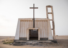 Abandoned Church From The Portuguese Colonial Times, Namibe Province, Tomboa, Angola