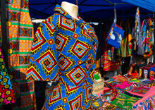 Wax Print Cloths Sold In A Market, Luanda Province, Luanda, Angola