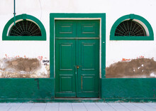 Old Portuguese Colonial Building Door, Namibe Province, Namibe, Angola