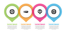 Set Tarot Cards, Snake, Skull And Life. Business Infographic Template. Vector