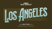 Editable Text Style Effect - Retro Los Angeles Text Style Theme