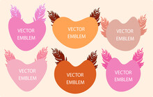 Set Of Hears For Text Vector Illustration