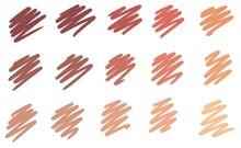 Felt Tip Pen Strokes In Skin Colours Illustration