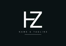 Abstract Alphabet Letter Logo Icon HZ