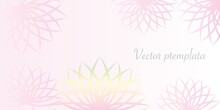 Relaxation And Healing Concept Banner Illustration. Lotus Flower Decorative Vector Template. Card, Invitation, Banner, Event, Top Page Design. Vector Illustration.