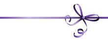 Purple Colored Ribbon Bow