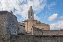 Bell Tower Of The Church Of St. Philip (Girona, Spain)