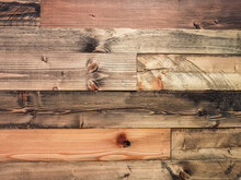 Old Brown Vintage Wooden Planks Wall Vintage Texture Abstract For Background For Design And Decoration. Wood Material Backdrop For Vintage Wallpaper. Reclaimed Wood Background.