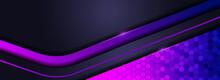 Modern Futuristic Purple Lines Background Design.