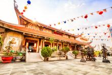 Vinh Nghiem Pagoda On A Sunny Day In Ho Chi Minh City