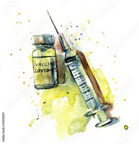 Fototapeta Covid-19 vaccine illustration obraz