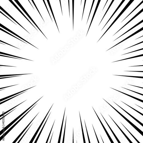 Fotografie, Obraz Black and white optical illusion burst background