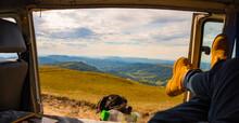 Campervan Kombi VW Volkswagen Trailer Countryside Travel Tourism Backpack Road Nomadland Nomad