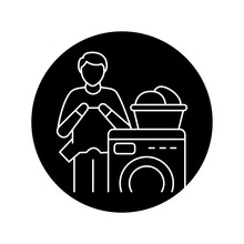 Laundry Color Line Icon. Pictogram For Web Page, Mobile App