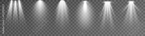 Fotografie, Obraz Set of Spotlight isolated on transparent background