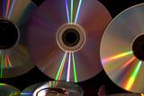 Fototapeta Rainbow - cd and dvd