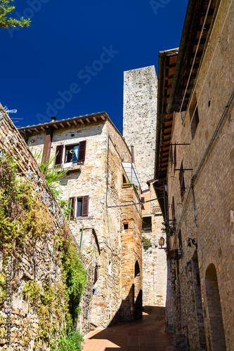 Naklejka premium View of San Gimignano town in Tuscany, Italy