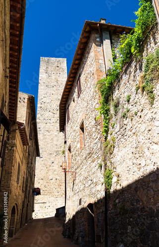 Naklejka premium Architecture of San Gimignano in Tuscany, Italy