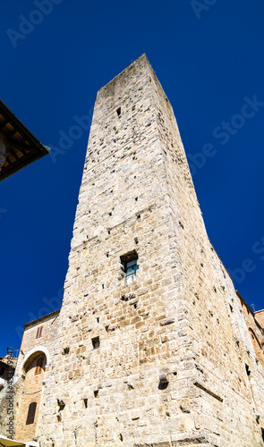 Naklejka premium Tower of San Gimignano town in Tuscany, Italy