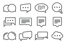Speech Bubbles Icons Set - Editable Stroke