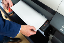 Wide Format Printer For Paper In Tipography