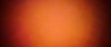 Orange Dark Vintage Grunge Background With Faint Texture, Watercolor Paint Stains In Elegant Backdrop Illustration