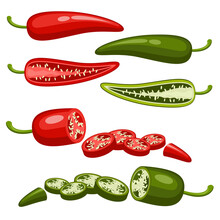 Red And Green Chilly Pepper