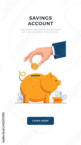 Photo Savings account vector illustration