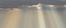 空 雲 夕日 薄明光線 Cloud Sunny Sky Sunset Panorama