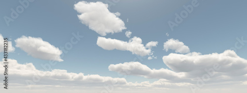 Obraz na plátně 空 雲 cloud sunny sky