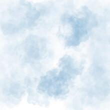 Blue Sky Tie Dye Watercolour Illustration