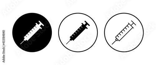Fotografering Syringe icon set. injection icon vector.
