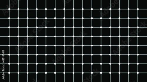 Fotografia Optical illusion - black dots appears in black and white grid.