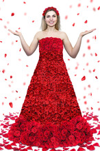 Girl In A Dress Of Roses.