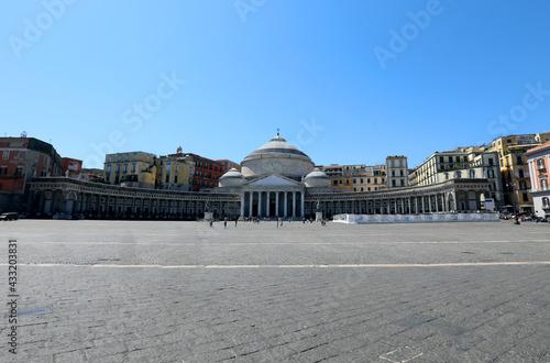 Obraz na plátne main Square of Naples City called piazza Plebiscito that means plebiscite Square