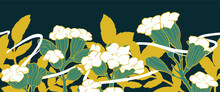 White Trumpet, Flower, Tropical, Art