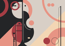 Banner Template With Trumpet And Violin. Flyer Design For Concert Of Classical Music.