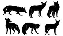 Hand Drawn Silhouette Fox