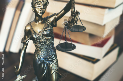 Stampa su Tela Scales of Justice symbol, legal law concept image