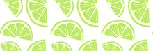 Abstract Fruit Lime Lemon Seamless Pattern. Cool Background For Banner, Card, Poster. Bright Print For Wallpaper, Wrapping Paper, Clothing, Covers, Notebooks, Tableware, Textiles, Bedding, Food Pack