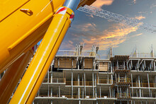 Construction Site Of Luxury Condominiums And Townhouses In The Heart Of City Downtown At A Premium Location.