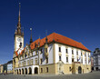 The main square and town hall in Olomouc, Moravia, Czech Republic