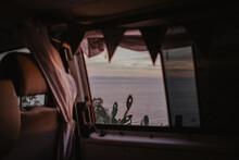 Vanlife Reisen Sonnenuntergang VW Bus