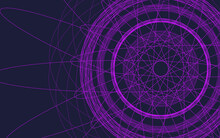 Abstract Purple Circle Iris Fractal