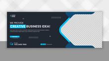 Digital Marketing Facebook Cover Business Template, 100% Editable